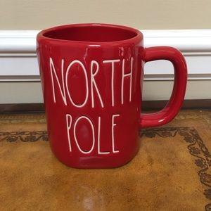 NWT Rae Dunn Red NORTH POLE mug